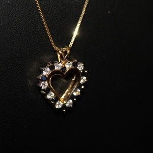 Beautiful Necklace with Diamonds and Sapphires